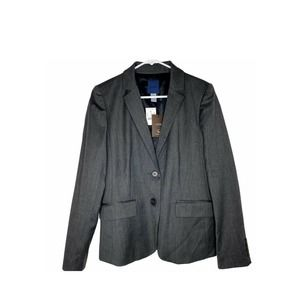 J Crew Wool Blazer Collared Jacket Gray 6